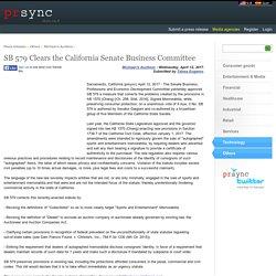 SB 579 Clears the California Senate Business Committee
