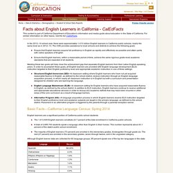 Facts about English Learners in California - CalEdFacts