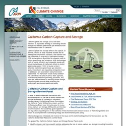 CA_GOV - California Carbon Capture and Storage.