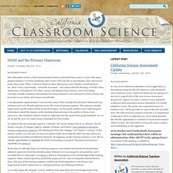 California Classroom Science » NGSS and the Primary Classroom