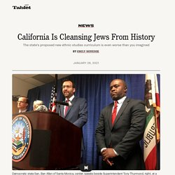 California Is Cleansing Jews From History