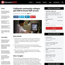 California community colleges get $5M to boost OER access