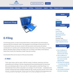 California Court eFiling