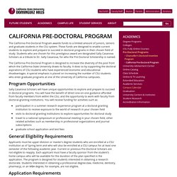 California Pre-Doctoral Program
