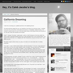 Hey, it's Caleb Jacobo's blog.