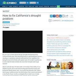 How to fix California's drought problem—commentary
