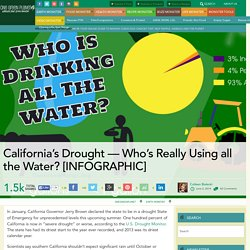 California's Drought — Who's Really Using all the Water? [INFOGRAPHIC]