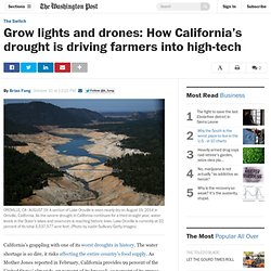 Grow lights and drones: How California's drought is driving farmers into high-tech