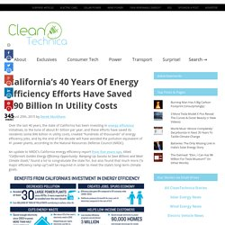 California's 40 Years Of Energy Efficiency Efforts Have Saved $90B In Utility Costs
