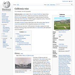 WIKIPEDIA – California wine.