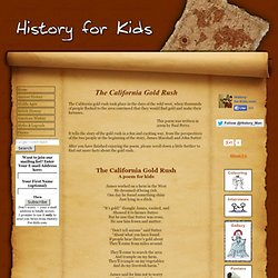 California Gold Rush - A fun poem for kids