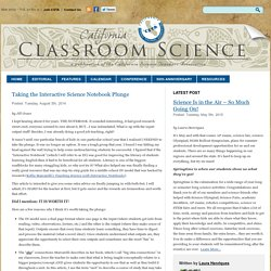 California Classroom Science » Taking the Interactive Science Notebook Plunge