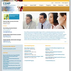 CSMP - California International Studies Project