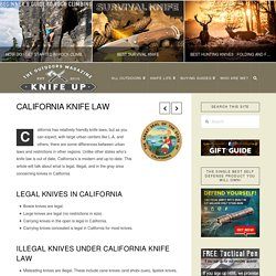 California Knife Law - Knife Up