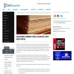 California Common Sense launches open data portal