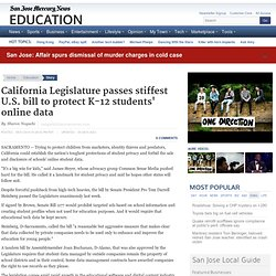 California Legislature passes stiffest U.S. bill to protect K-12 students' online data