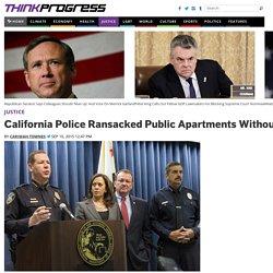 California Police Ransacked Public Apartments Without Warrants Under 'Neighborhood Blitz' Program