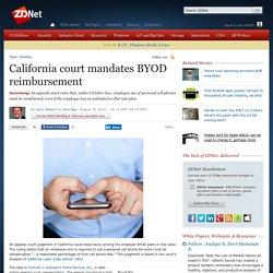 California court mandates BYOD reimbursement
