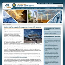 lifornia Renewable Energy Overview and Programs