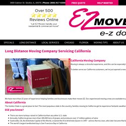 Long Distance Moving Company in California - E-Z Movers