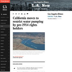 California moves to restrict water pumping by pre-1914 rights holders