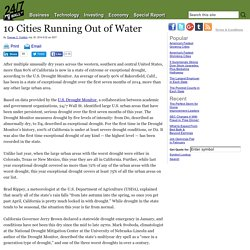 10 California Cities Running Out of Water Include Bakersfield, Santa Cruz, Fresno