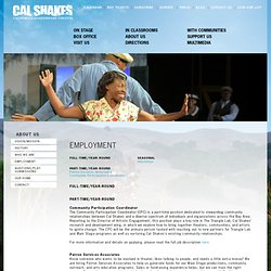 California Shakespeare Theater - Employment