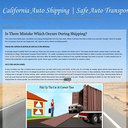 Is There Mistake Which Occurs During Shipping?