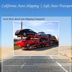 Learn More About Auto Shipping Transport!!