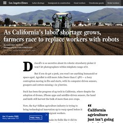 As California's labor shortage grows, farmers race to replace workers with robots - Los Angeles Times