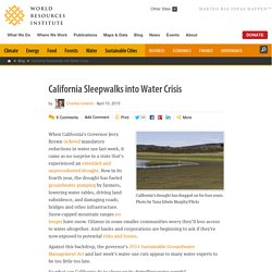 California Sleepwalks into Water Crisis