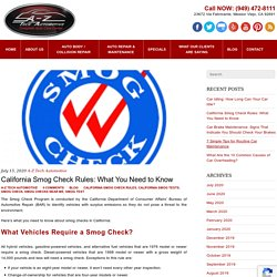California Smog Check Rules: What You Need to Know