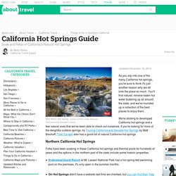 California Hot Springs Guide: Where to Soak