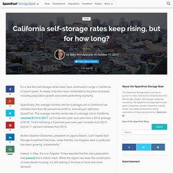 California self-storage rates keep rising, but for how long? - The SpareFoot Storage Beat