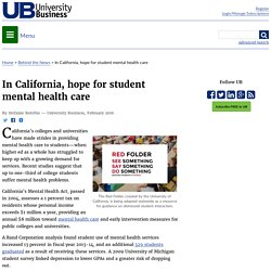 In California, hope for student mental health care