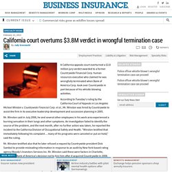 California court overturns $3.8M verdict in wrongful termination case