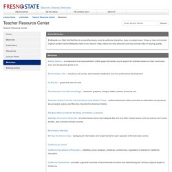 Metasites - Teacher Resource Center - LibGuides at California State University Fresno