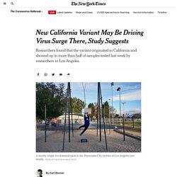 NYT 19.01 New California Variant
