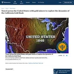 California Gold Rush and westward movement