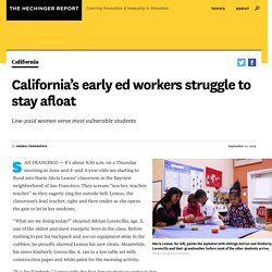 California's early ed workers struggle to stay afloat