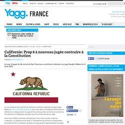 Californie: Prop 8 à nouveau jugée contraire à la Constitution