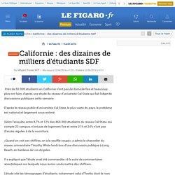 Californie : des dizaines de milliers d'étudiants SDF