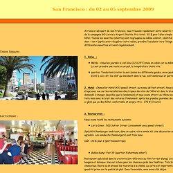 Carnet de voyage Californie, itinéraire californie, de San Francisco à Las Vegas