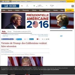 Victoire de Trump: des Californiens veulent faire sécession