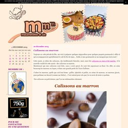 Calissons au marron
