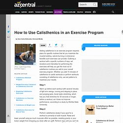 How to Use Calisthenics in an Exercise Program