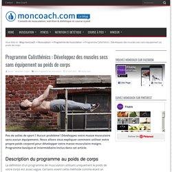 Programme Calisthénics : Développez des muscles secs sans équipement au poids de corps