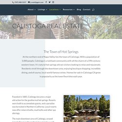 Homes for sale in Calistoga CA