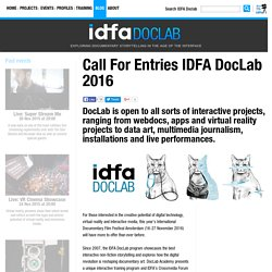 Get ready to submit your project to IDFA DocLab 2014