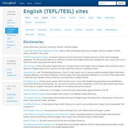CALL@Hull: English (TEFL/TESL) sites